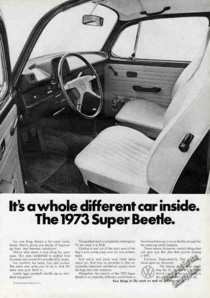 Vw Volkswagen Super Beetle Different Car Inside (1973)