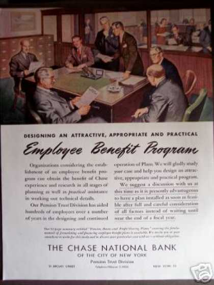 Chase National Bank Ny Benefits Art (1945)