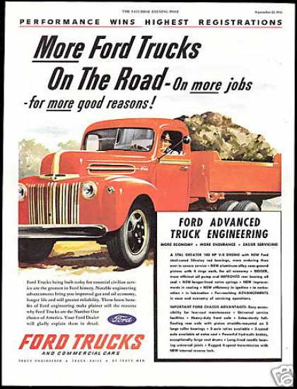 Big Ford Truck Dual Wheel Vintage (1945)