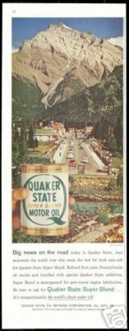 Banff Canada Photo Quaker State Oil (1958)