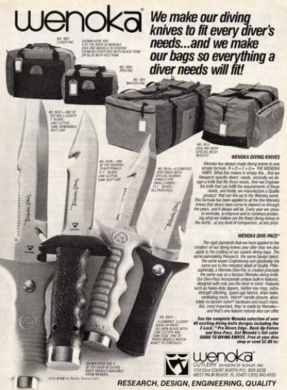 Wenoka Scuba Dive Knife Z-lock T (1984)