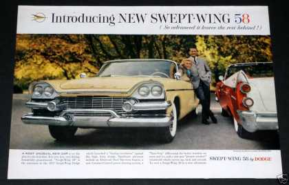 1958 Dodge Swept-wing Cars (1957)