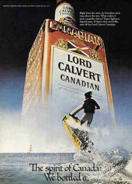 Lord Calvert Canadian Whiskey Spirit of Canada (1979)