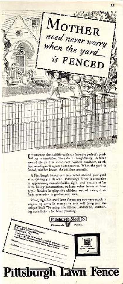 Pittsburgh's Lawn Fence (1930)