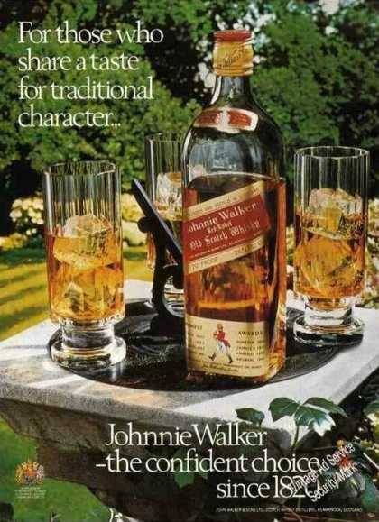 Johnnie Walker Red Impressive Photo Uk (1975)