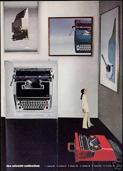 Olivetti 5 Typewriter Photo (1971)