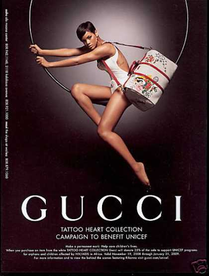 Rihanna Gucci Tattoo Purse Photo Unicef (2008). # | » via | buy at eBay