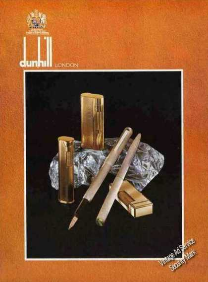 Dunhill Cigarette Lighters Impressive Uk (1976)