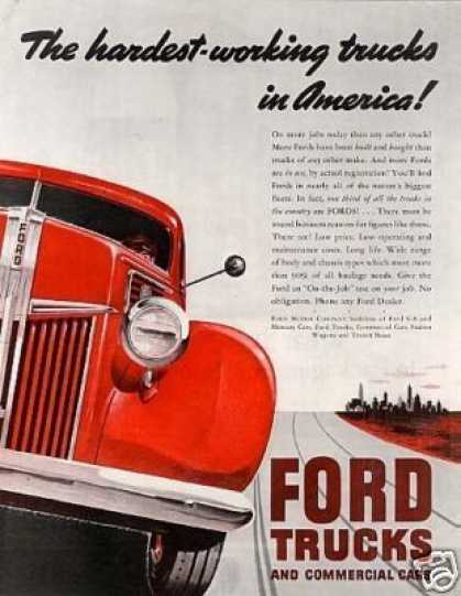 "Ford Truck Ad ""The Hardest-working (1941)"