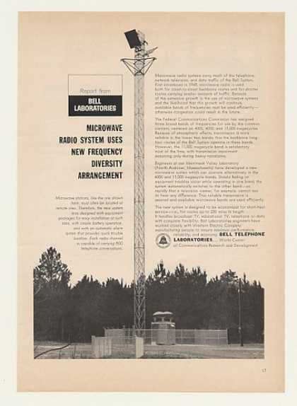 Bell Telephone Microwave Radio Antenna Tower (1964)