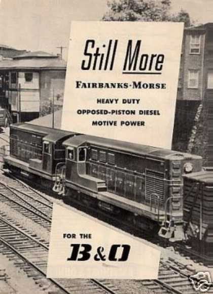 Fairbanks-morse Ad Baltimore & Ohio H-12-44's (1950)