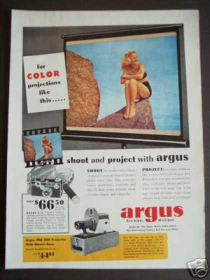Argus 35mm C-3 Camera & 200 Projector Photo (1950)