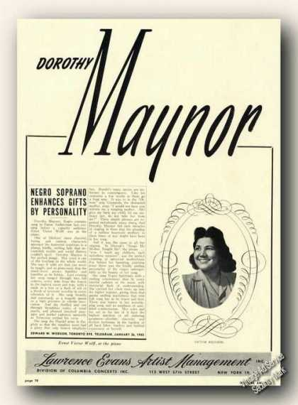 Dorothy Maynor Photo Opera (1945)