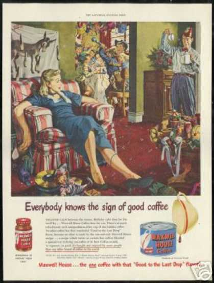 Kids Birthday Party Maxwell House Coffee (1951)