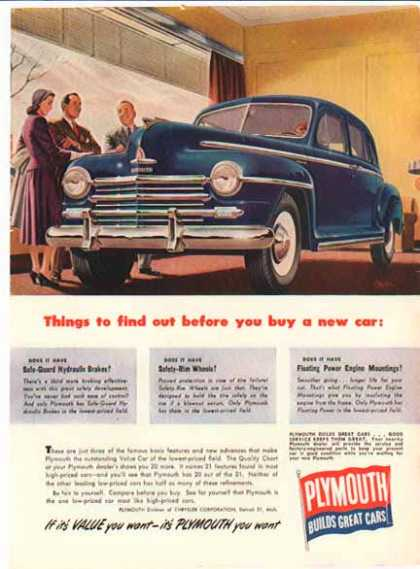 Plymouth Car – Things to find out before you buy a car (1949)