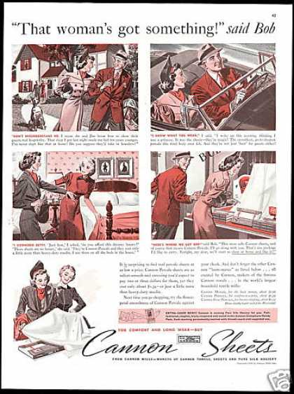 Cannon Percale Sheets Illustrated Story (1938)