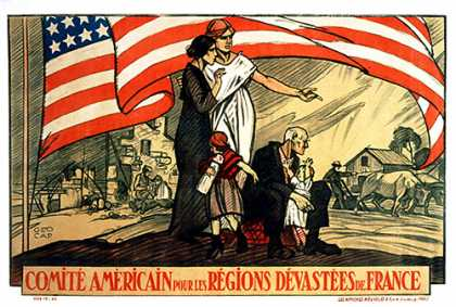 Comite Americain, French war poster