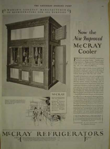 McCray Refrigerators Cooler Kendalville Indiana (1928)