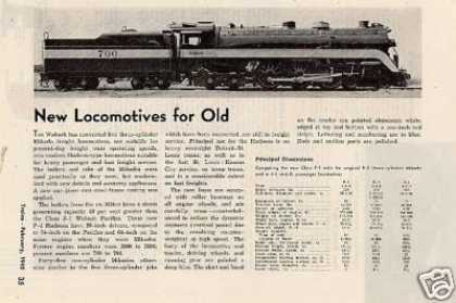 "Magazine Photo/""New Locomotives for Old"" Wabash (1945)"