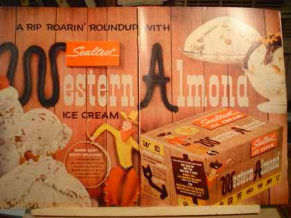 Sealtest Western Almond Ice Cream (1955)