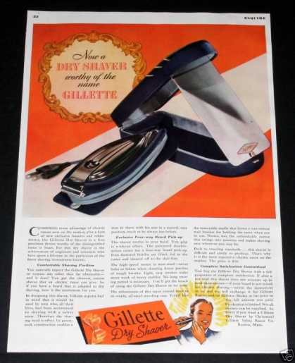 "Gillette, Dty ""Electric"" Shaver (1938)"
