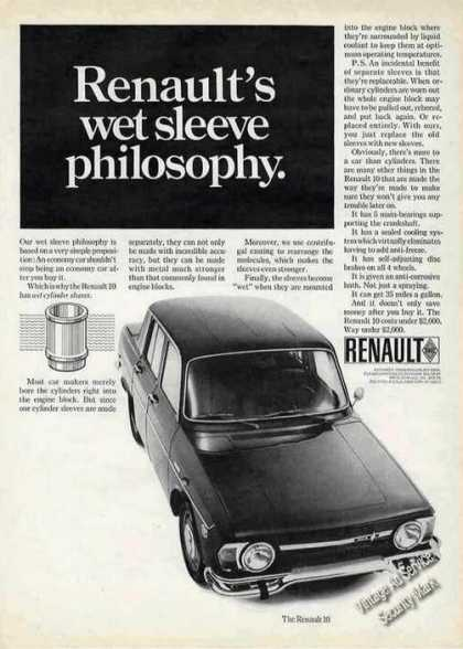 Renault's Wet Sleeve Philosophy Photo (1968)