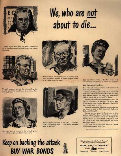 Dept. of Treasury's War Bonds – We, who are not about to die... (1943)