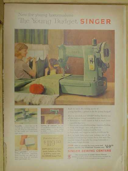 Singer Sewing Center. Sewing Machines (1959)