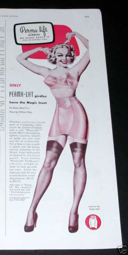 Perma-lift Girdles, Pin-up Art (1950)