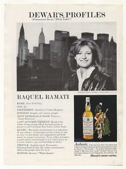 Architect Raquel Ramati NYC Dewar's Profiles (1976)