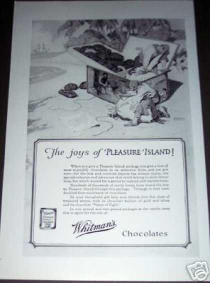 Original Whitman's Pleasure Island Chocolates (1926)