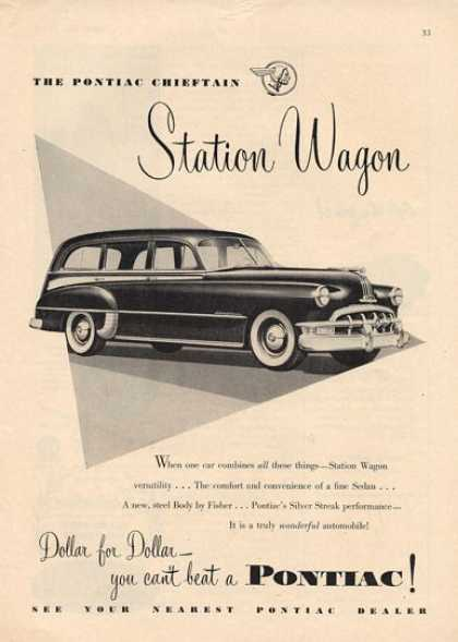 Pontiac Station Wagon Silver Steak (1950)