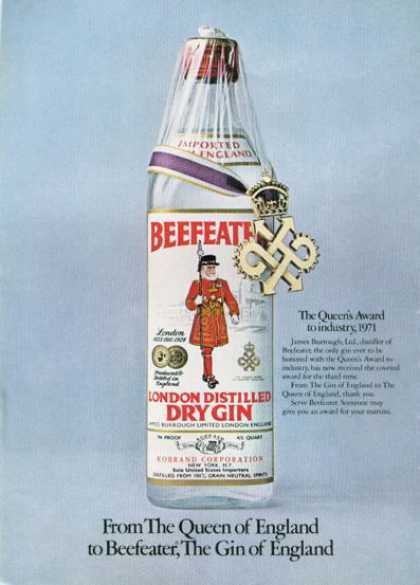 Beefeater Dry Gin (1972)