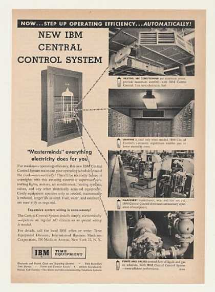 IBM Time Electric Central Control System (1955)
