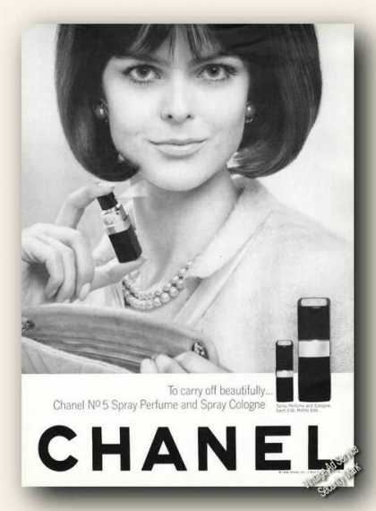Chanel No5 Spray Perfume and Spray Cologne (1966)