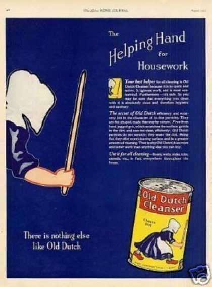 "Old Dutch Cleanser Ad ""The Helping Hand... (1923)"