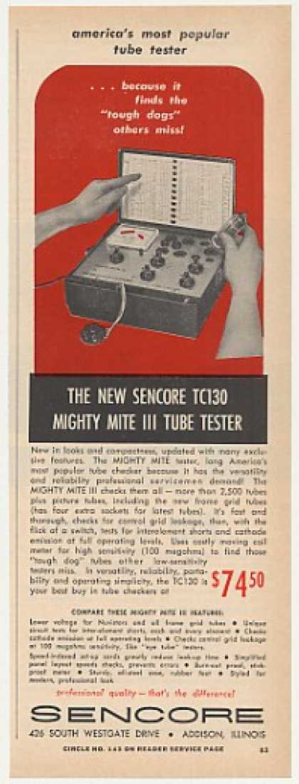 Sencore TC130 Mighty Mite III TV Tube Tester (1965)