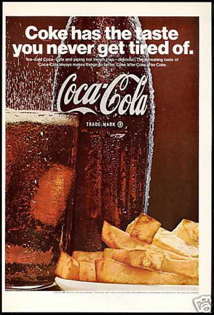 Coke Coca Cola Fries Bottle Glass (1967)