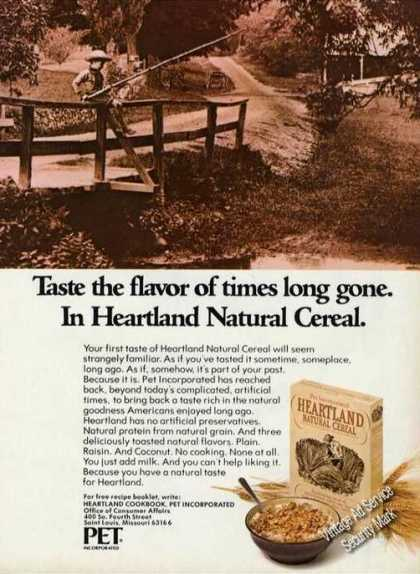 Heartland Natural Cereal Rare (1973)