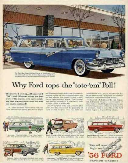 Ford Station Wagons Collectible Cars (1956)