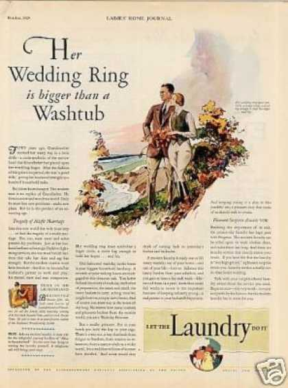 "Laundryowners National Association Ad ""Her Wedding (1929)"