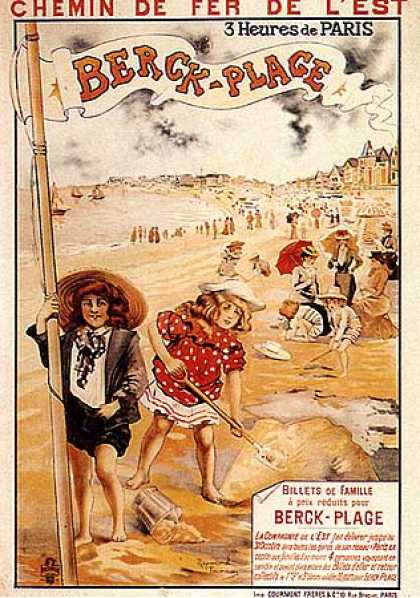 Berck Plage by R. Tournon (1900)
