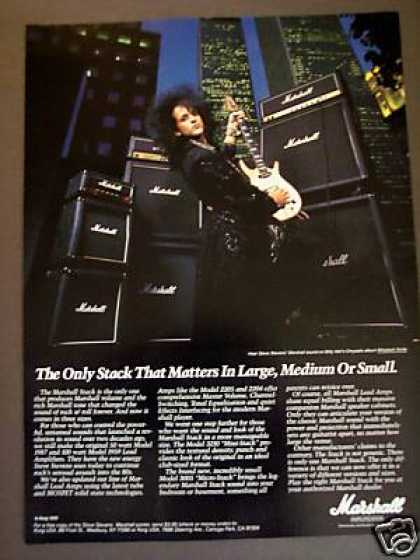Steve Stevens Big Hair Marshall Guitar Amps (1987)
