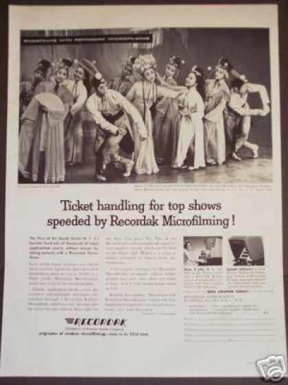 Broadway Hit Show Photo Recordak Microfilming (1959)