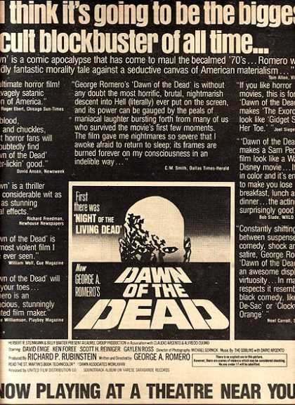 "Dawn of the Dead (""the biggest cult blockbuster of all time"") (1979)"