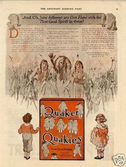 Quaker Quakies Corn Flakes Color (1921)