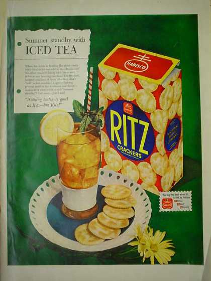 Ritz Crackers AND Pabst Beer Johnny Weissmuller (1950)