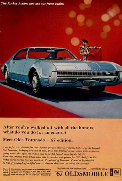 Olds Oldsmobile Toronado Bull Fighter (1967)