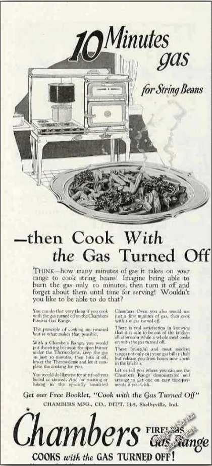 Chambers Fireless Gas Range Antique (1924)
