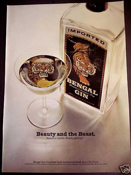 Bengal Tiger In Your Martini Imported Gin (1967)